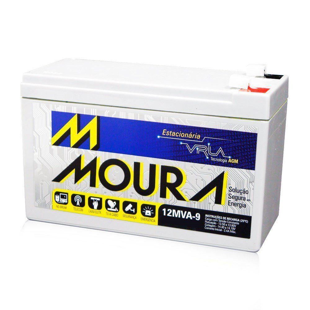 Bateria Moura Selada Estacionária 12V 9A VRLA Nobreak
