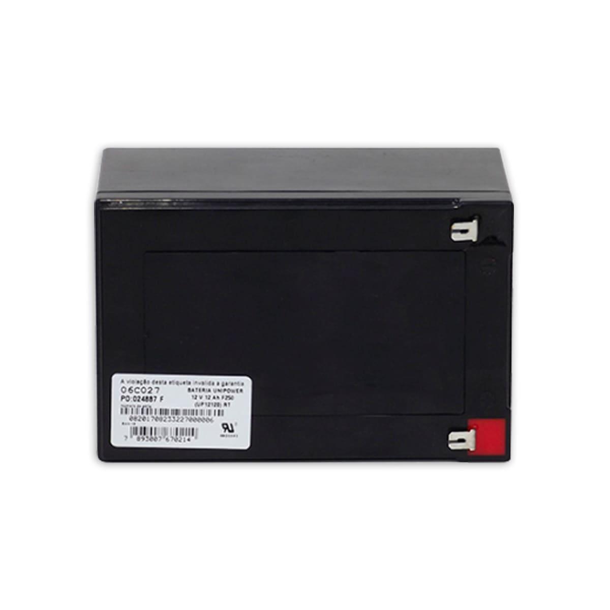 Bateria Selada Estacionária Unipower 12V 12AH UP12120