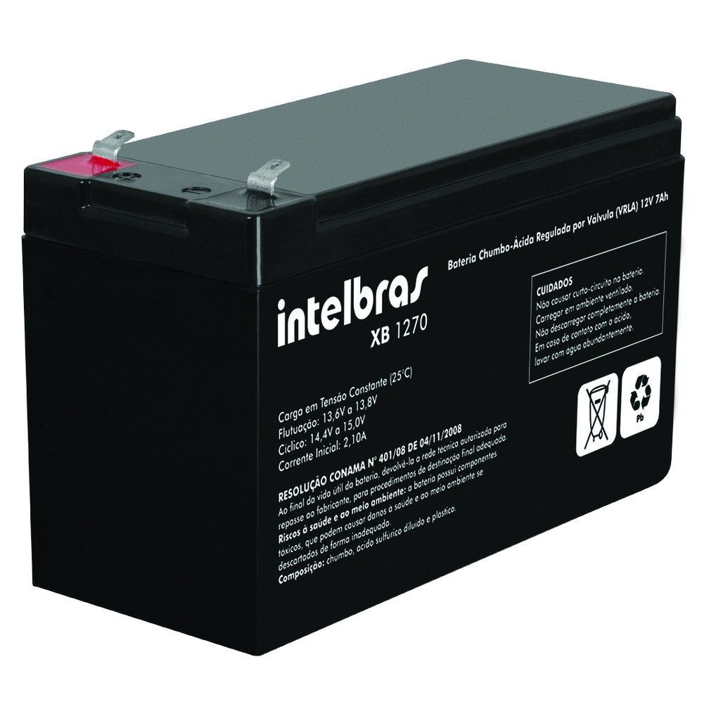Bateria Intelbras XB 1270 12V 7,0 Ah Vrla Nobreak