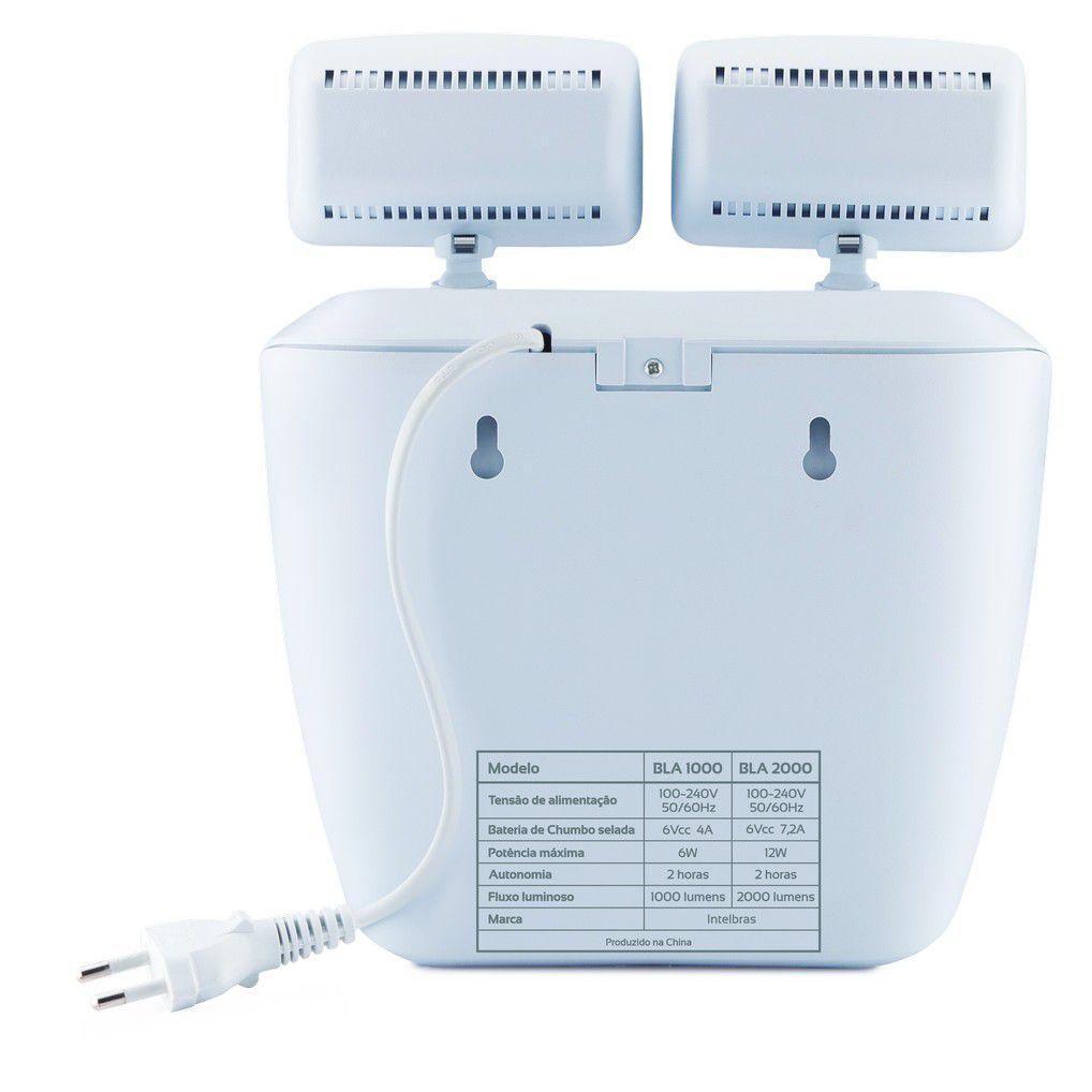 Bloco de Iluminação de Emergência Intelbras BLA 2000 Lúmens