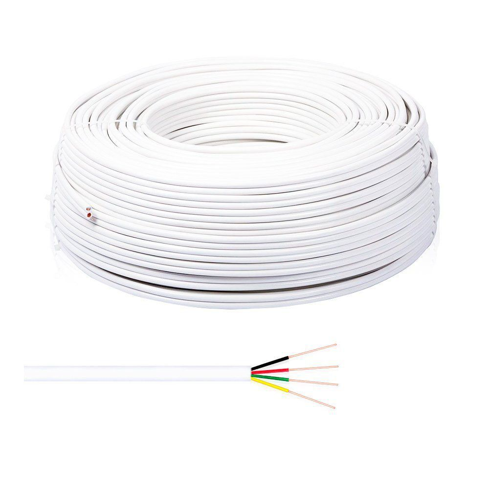 Cabo de Alarme Connect Cable 26 AWG 4x40 CCA 4 vias Multicor
