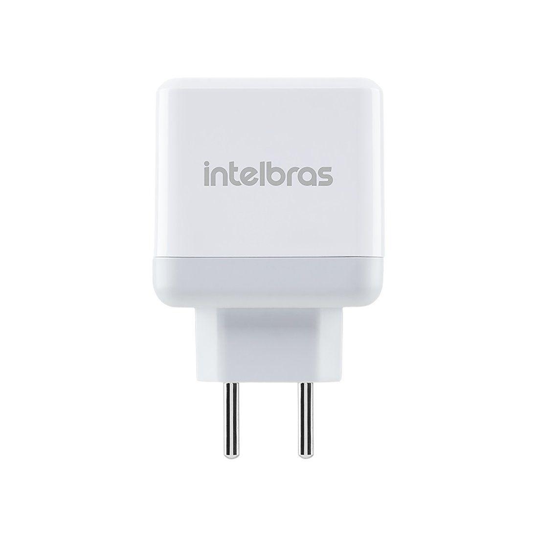 Tomada USB Intelbras EC 2 Fast de 2 portas USB e 2,4 A