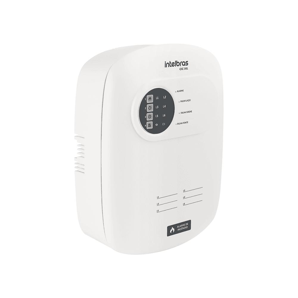 Central de Alarme de Incêndio Intelbras CIC 06L Com Bateria