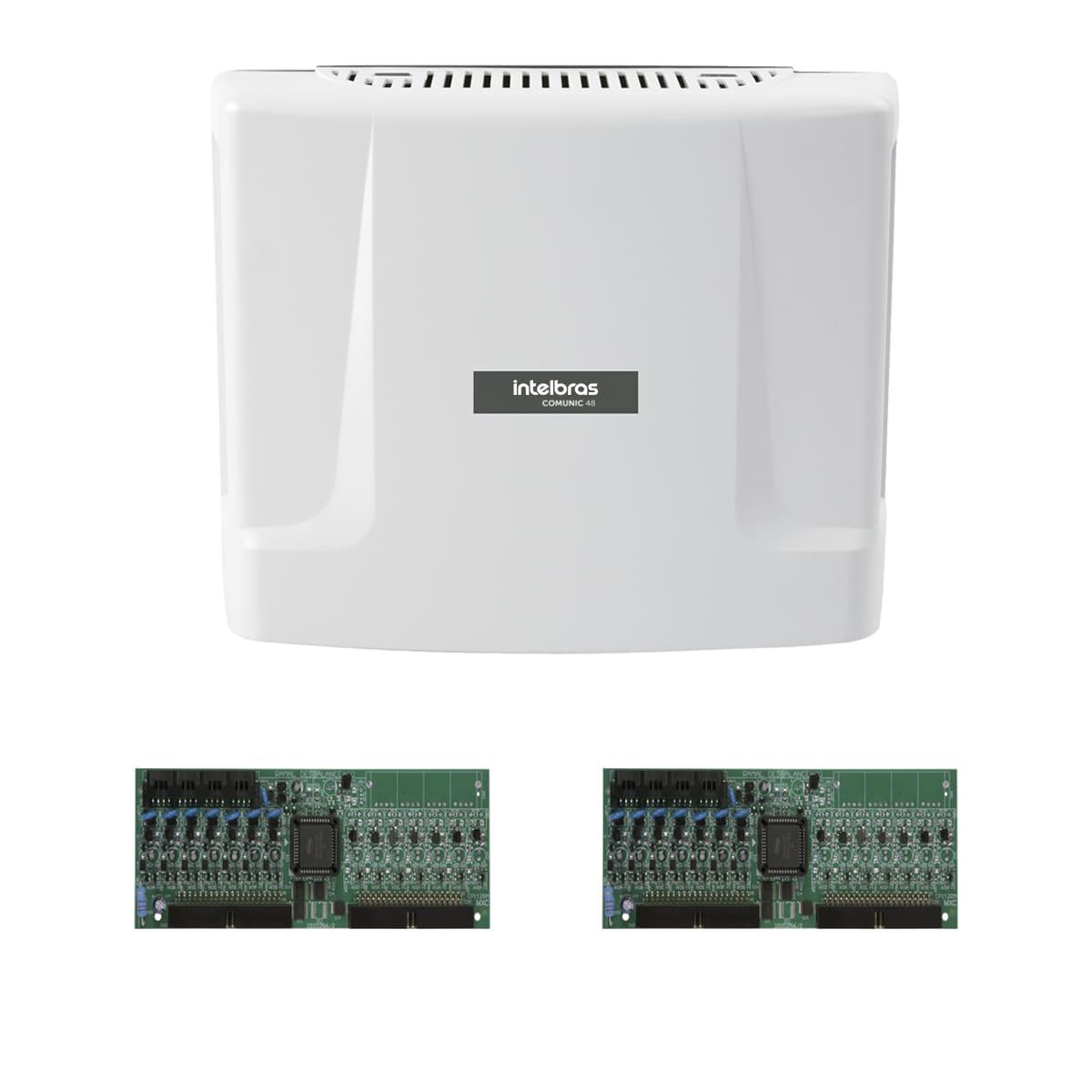 Central Comunic 48 Intelbras + 2 Placas Desbalanceadas Kit