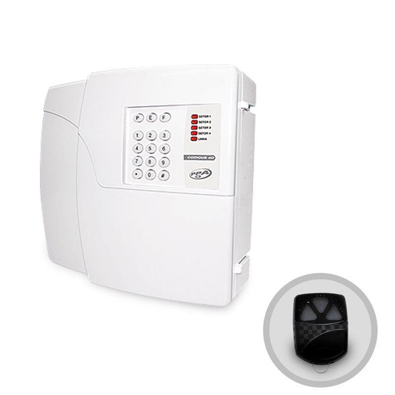 Central Alarme PPA Codigus 4D Plus 4 Setores Discadora