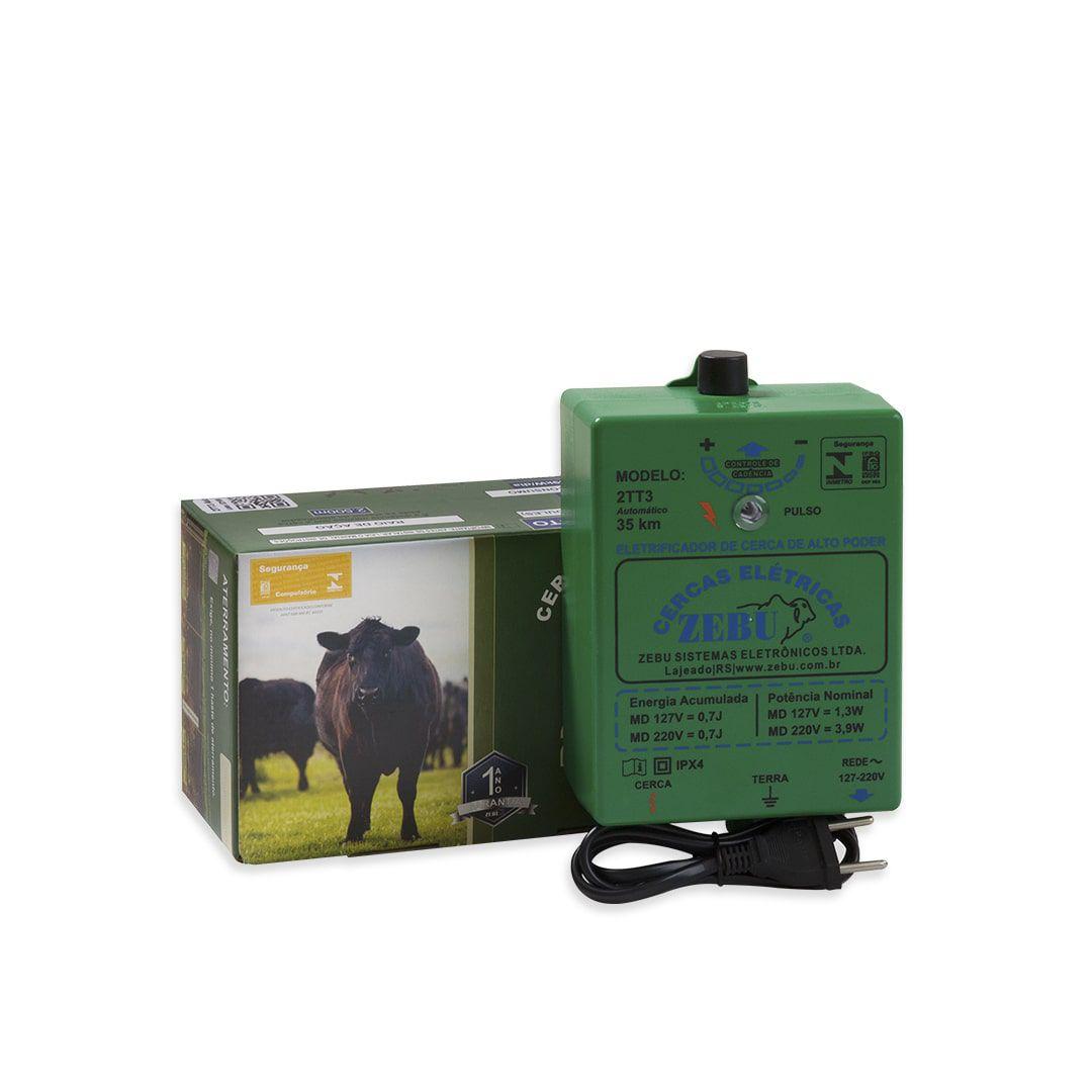 Cerca Elétrica Rural Eletrificador Zebu 2TT3 Aut