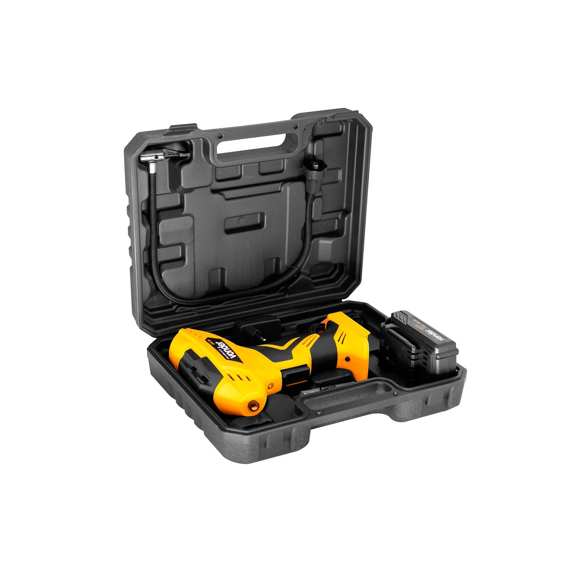 Compressor de Ar Portátil  Bateria 20 V Tipo Pistola Vonder