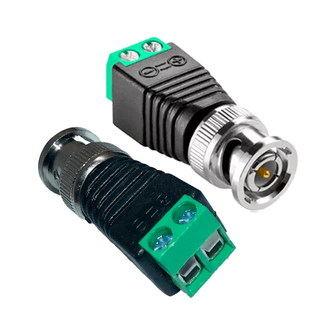Conector BNC HB Tech com Borne para Cftv Dvr Câmeras macho