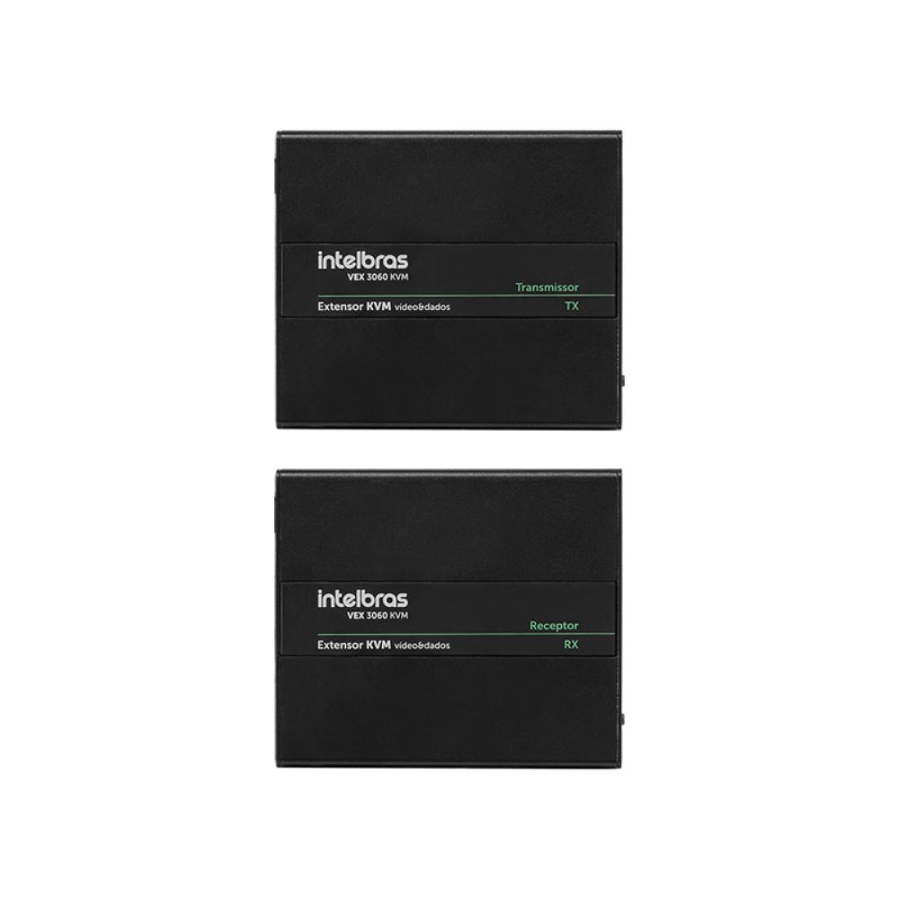 Extensor de Vídeo e Dados Intelbras VEX 3060 KVM