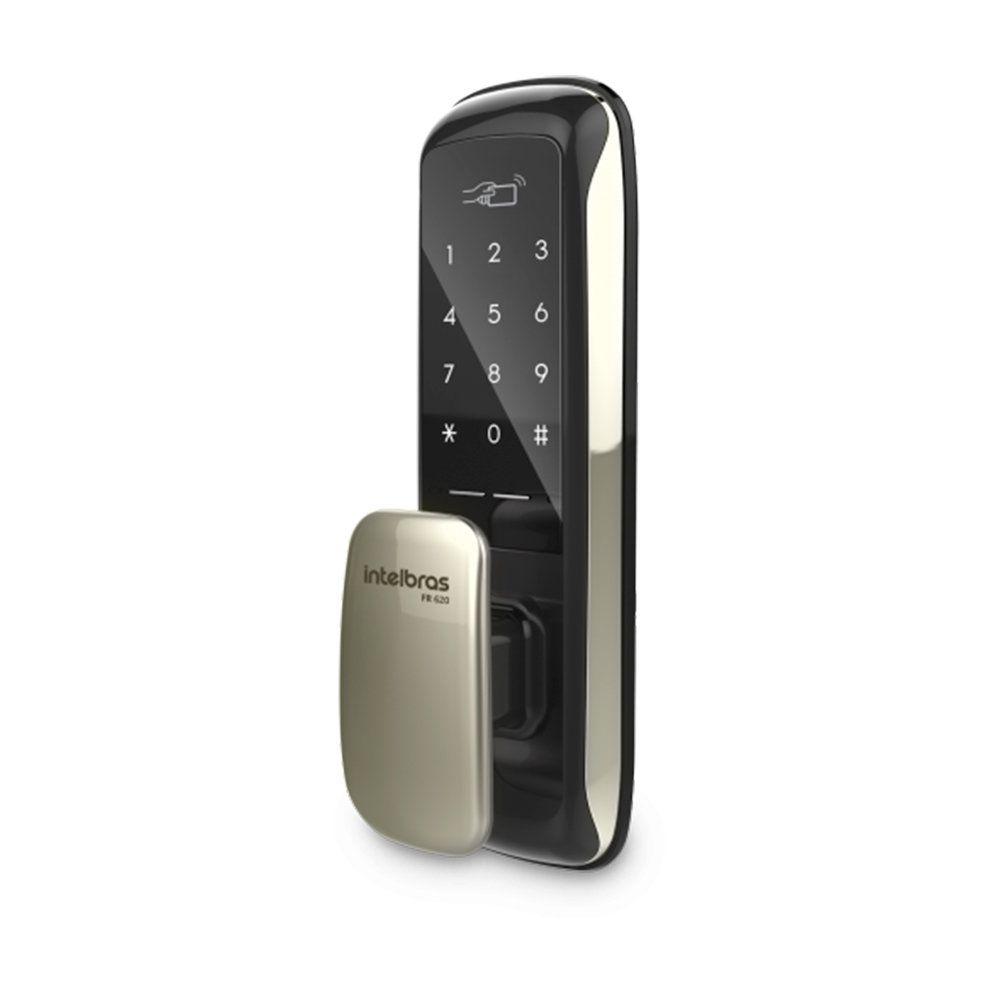 Fechadura Digital Intelbras FR 620 Push & Pull Senha e Tag