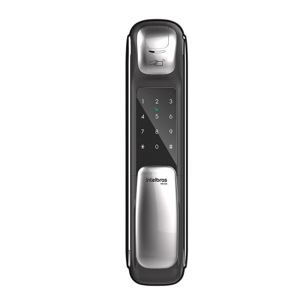 Fechadura Digital Intelbras FR 630 Push & Pull Biometria
