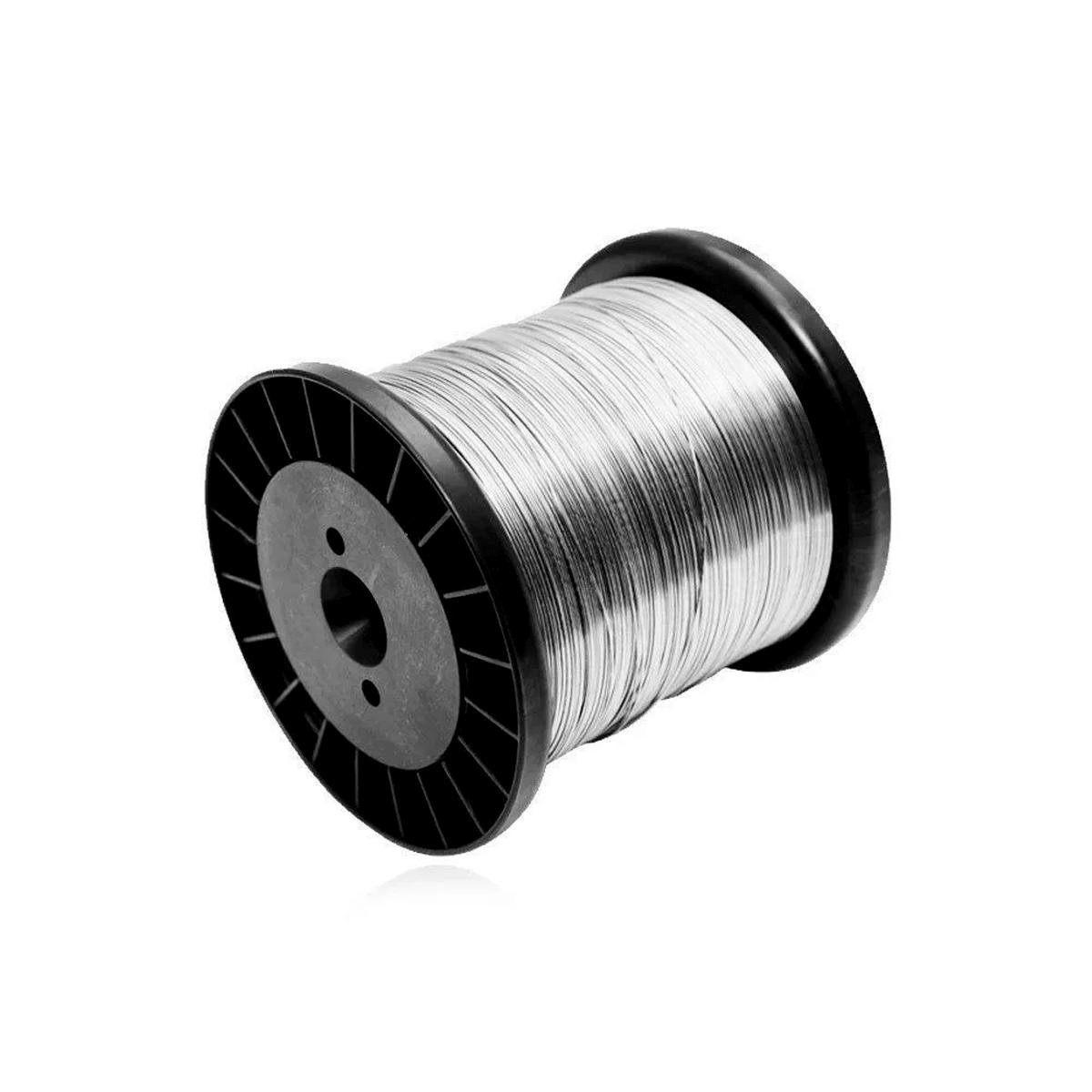 Fio de Aço Inox 0,45 mm para Cerca Elétrica Carretel 255g