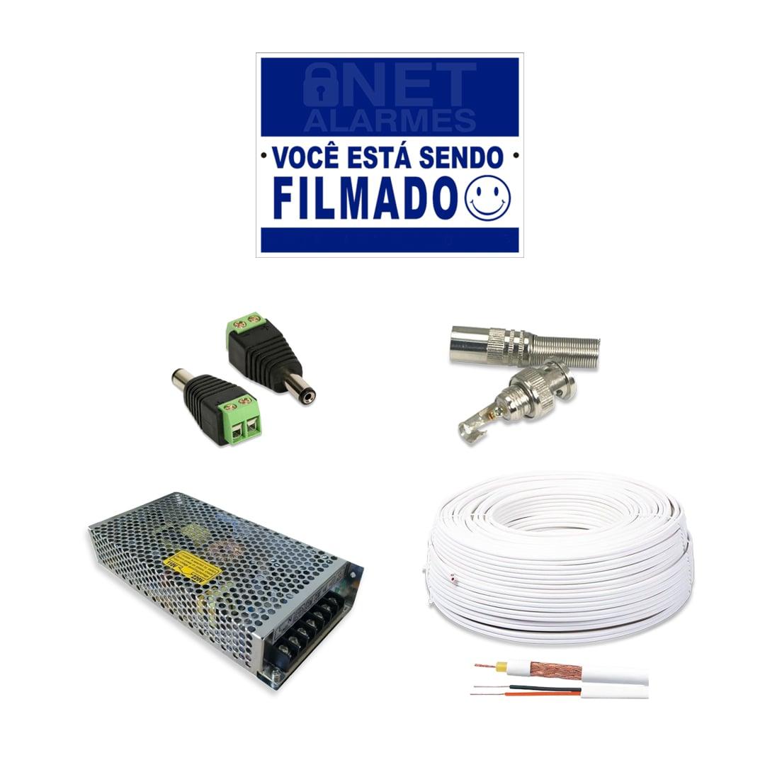 Kit 12 Câmeras de Segurança Giga Dome 720p DVR Intelbras