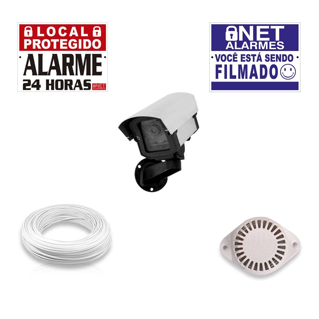 Kit Alarme Residencial Bopo 12 Sensores Sem Fio e Discadora