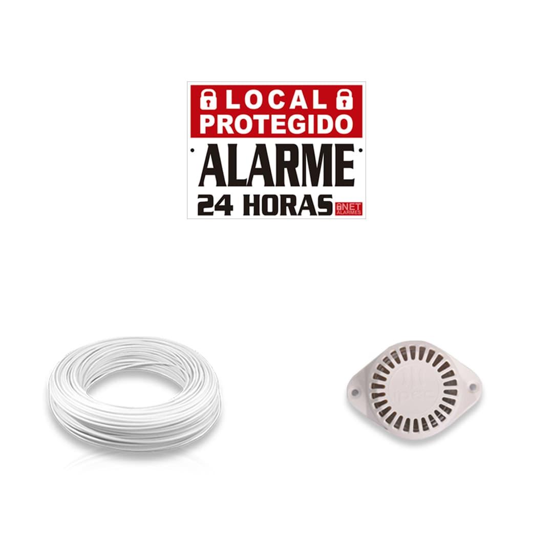 Kit Alarme Residencial Bopo 6 Sensores Sem Fio e Discadora