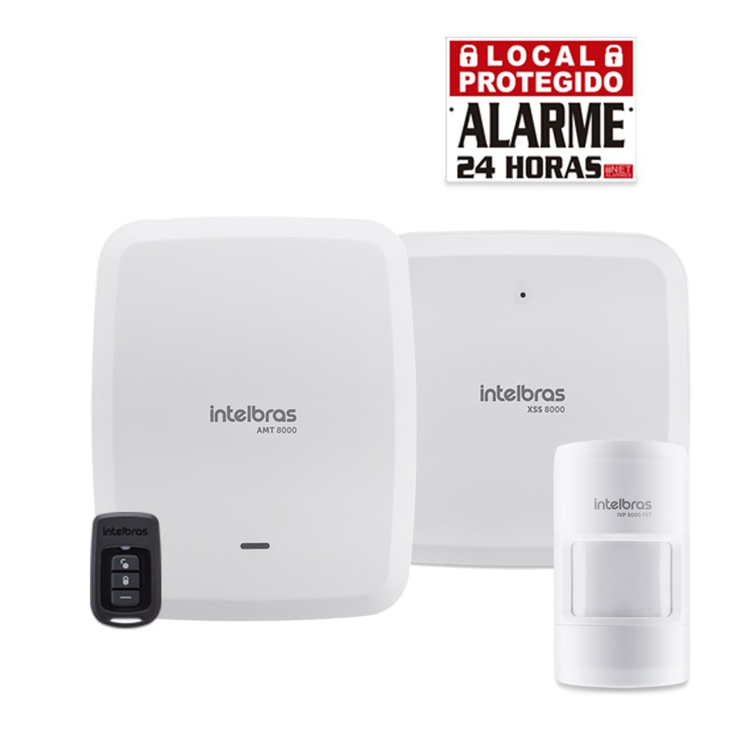 Kit Central de Alarme Intelbras AMT 8000 com 1 Sensor IVP