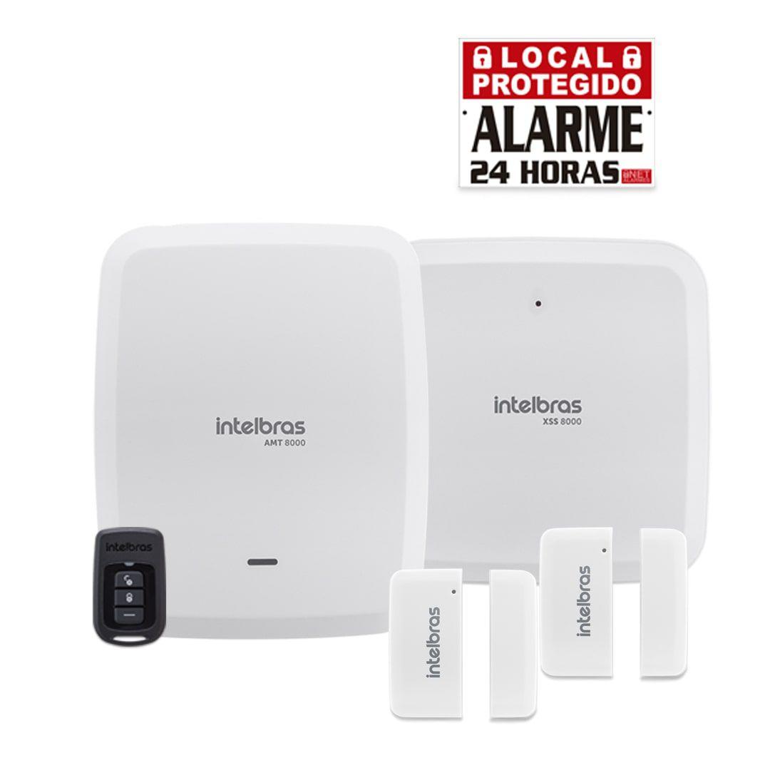 Kit Alarme Residencial Wifi Intelbras AMT 8000 Com 2 Sensores