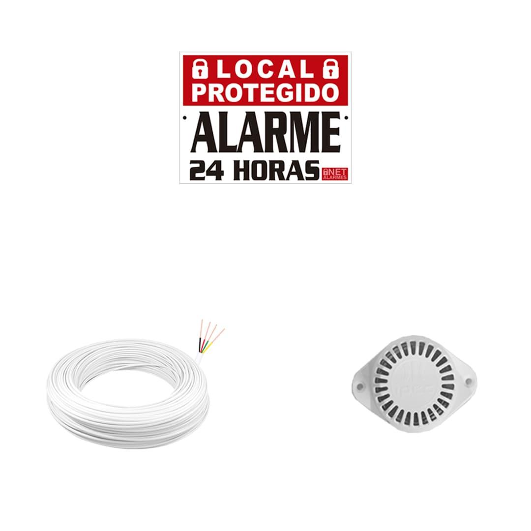 Kit Alarme Residencial Intelbras ANM 24 NET com 1 Sensor Com Fio