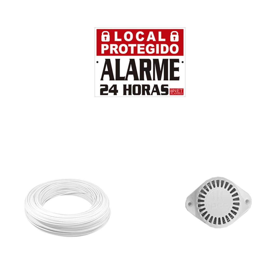 Kit Alarme Residencial Intelbras ANM 24 NET Com 6 Sensores Sem Fio
