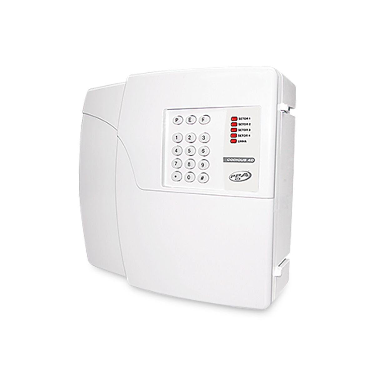 Kit Alarme Residencial PPA 4 Sensores Com Fio Discadora