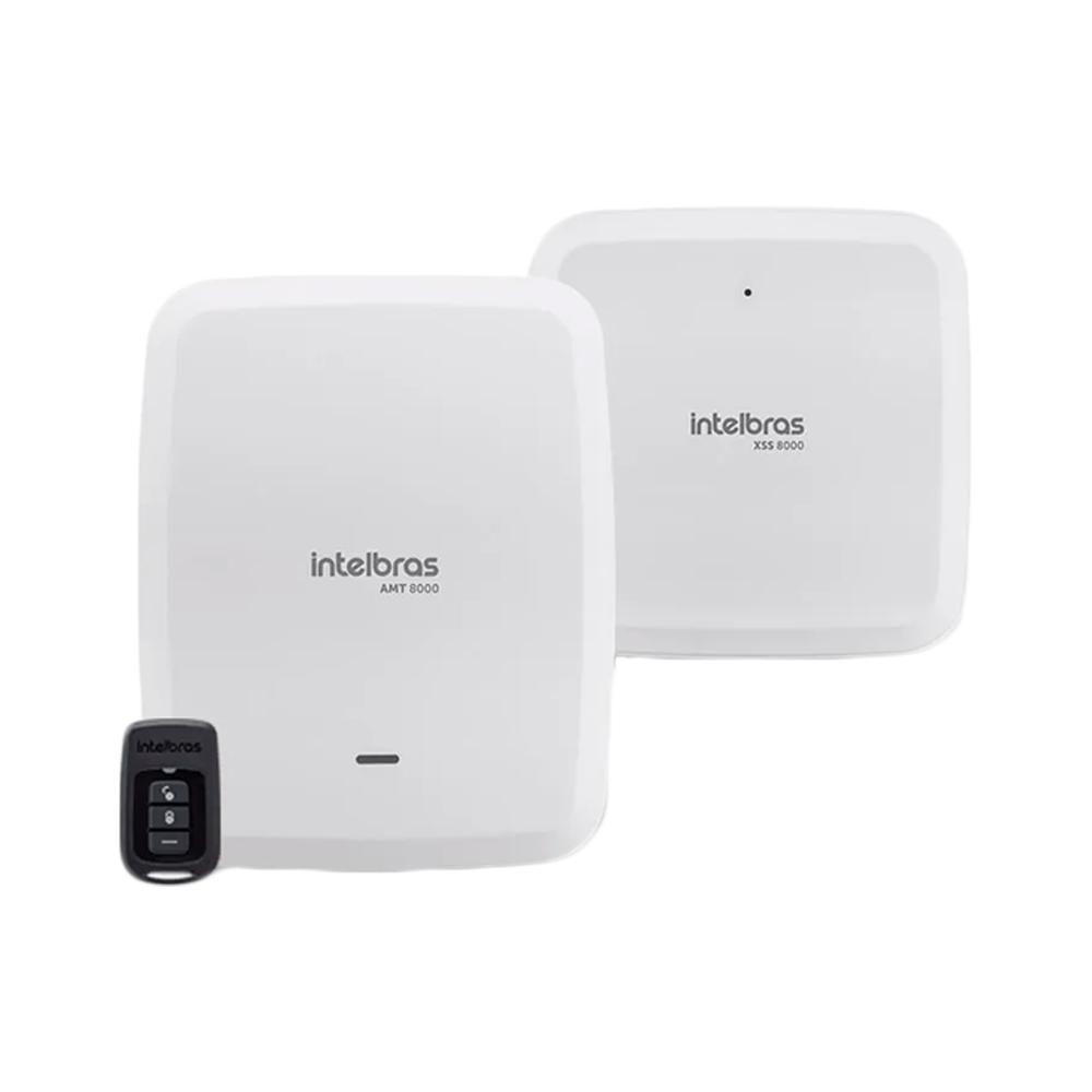 Kit Central de Alarme Intelbras AMT 8000 com 3 Sensores