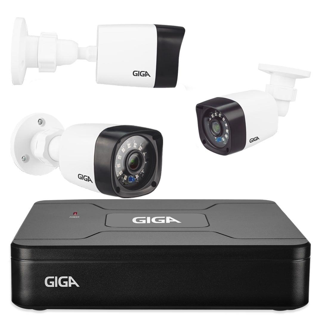 Kit Câmeras de Segurança Giga Security 720p Bullet com DVR 4 Canais
