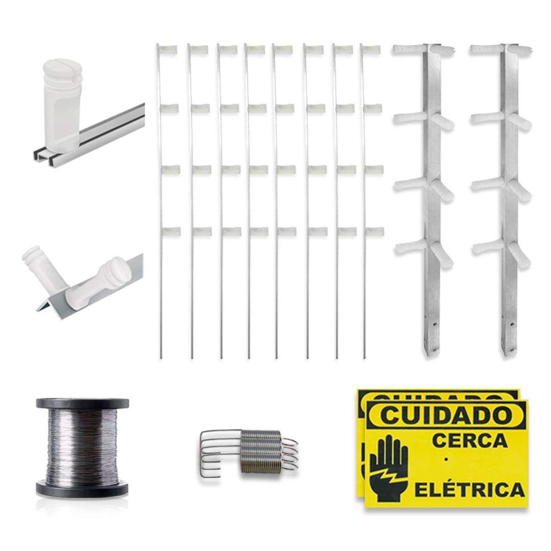 Kit Cerca Elétrica com Alarme Genno 30 Metros 3 Sensores