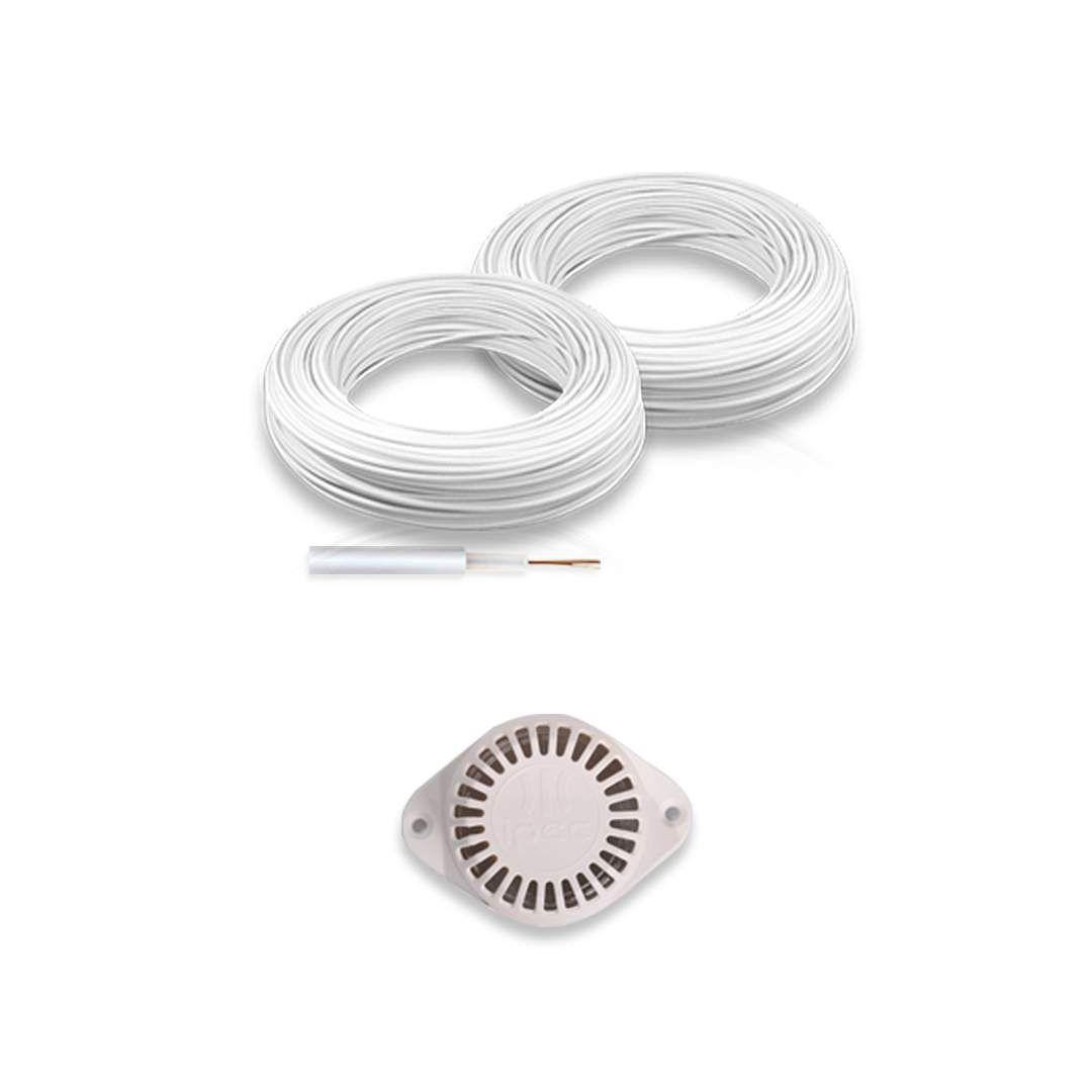 Kit Cerca Elétrica com Alarme Genno 50 Metros 3 Sensores
