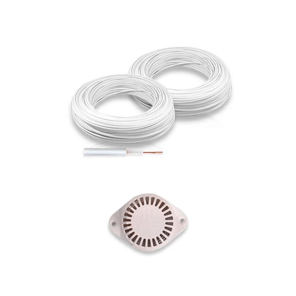 Kit Cerca Elétrica por APP Celular JFL Para 100 Metros Com Big Haste e Aço Inox