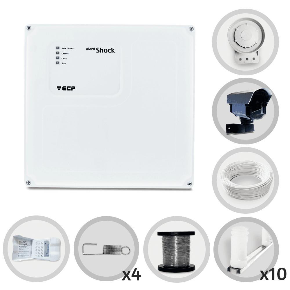 Kit Cerca Elétrica Shock Standard ECP Discadora 30 Metros de Muro