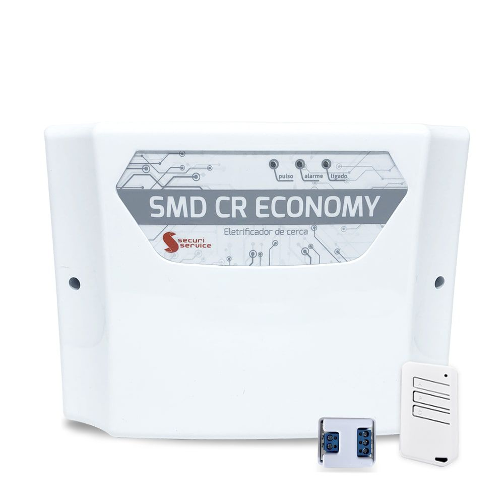 Kit Cerca Elétrica Securi Service SMD CR Economy 50 Metros de Muro