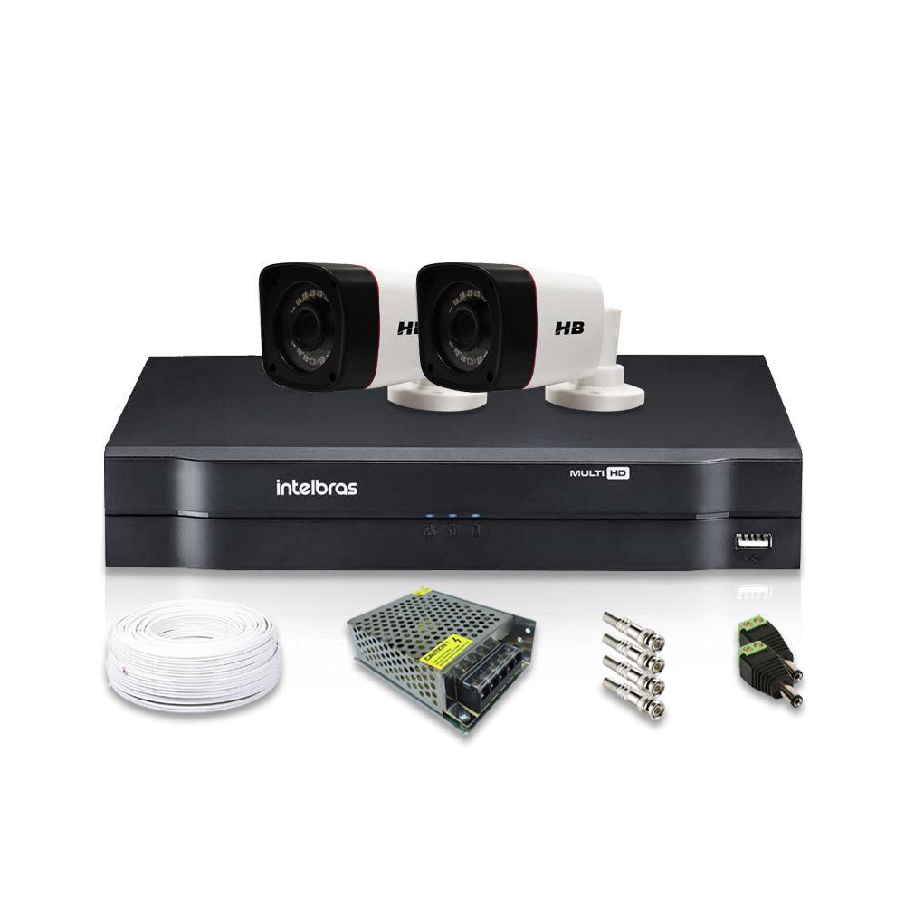 Kit Câmera de Segurança com 2 Câmeras e Dvr Intelbras