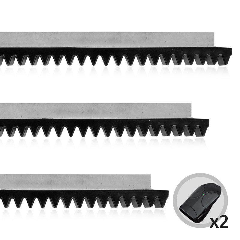 Kit Cremalheiras + 2 Controles PPA Para Motor De Portão