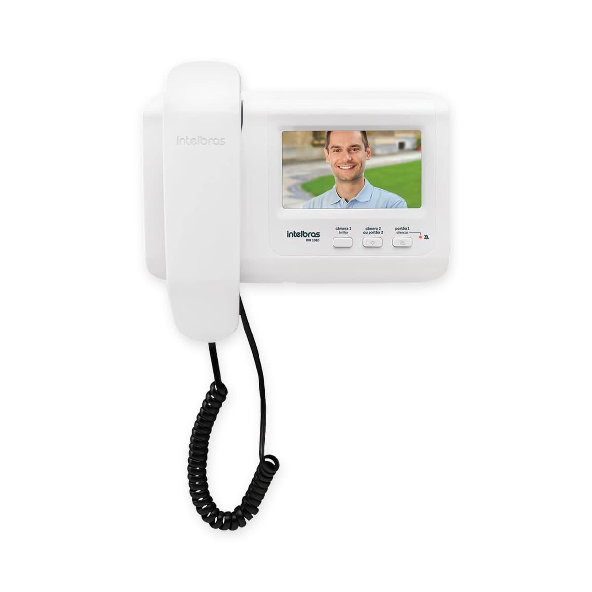 Kit Interfone com Câmera Intelbras IVR 1010 e Fechadura Elétrica FX 500