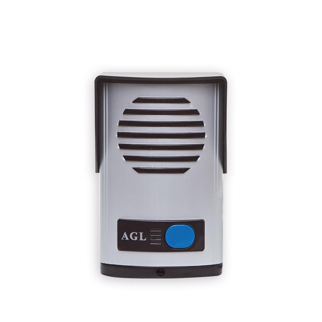 Kit Interfone Porteiro AGL + 1 Extensão + Fechadura 12V