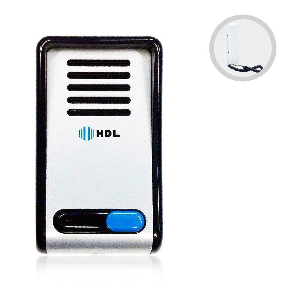 Interfone Porteiro Eletrônico F8 NTL AZ02 HDL Branco com Monofone
