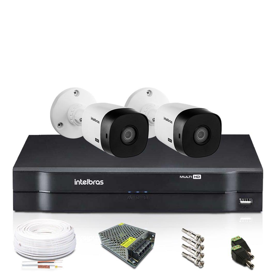 Kit Monitoramento Intelbras com 2 Câmeras de Segurança 1080p