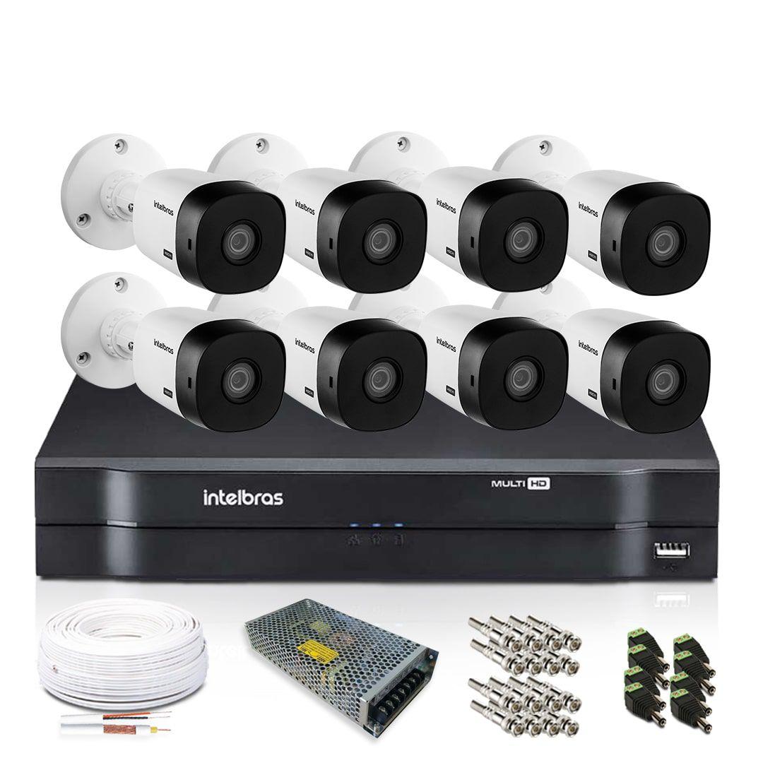 Kit Câmeras de Segurança Intelbras com 8 Câmeras 720p