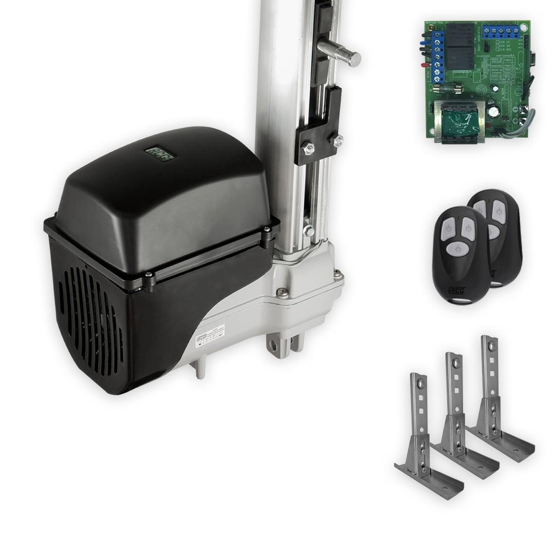 Kit Motor de Portão Basculante RCG Taurus Soft 1/5 Suportes