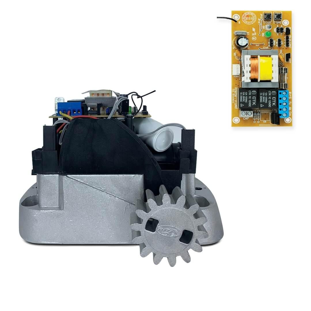 Kit Motor de Portão Deslizante PPA Dz New Home KL Porteiro e Fechadura