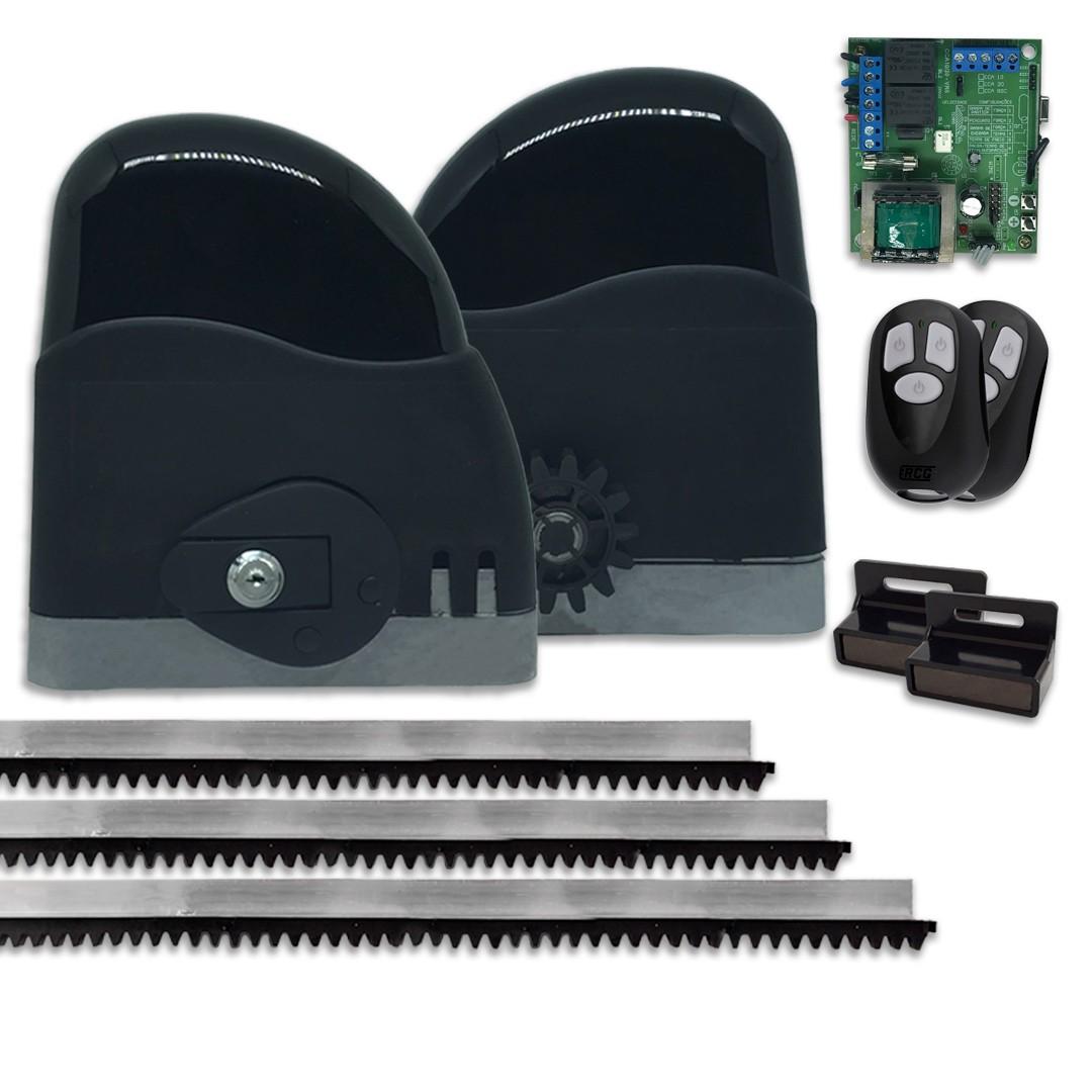 Kit Motor de Portão Deslizante RCG Slider AL Maxi 1/4 HP