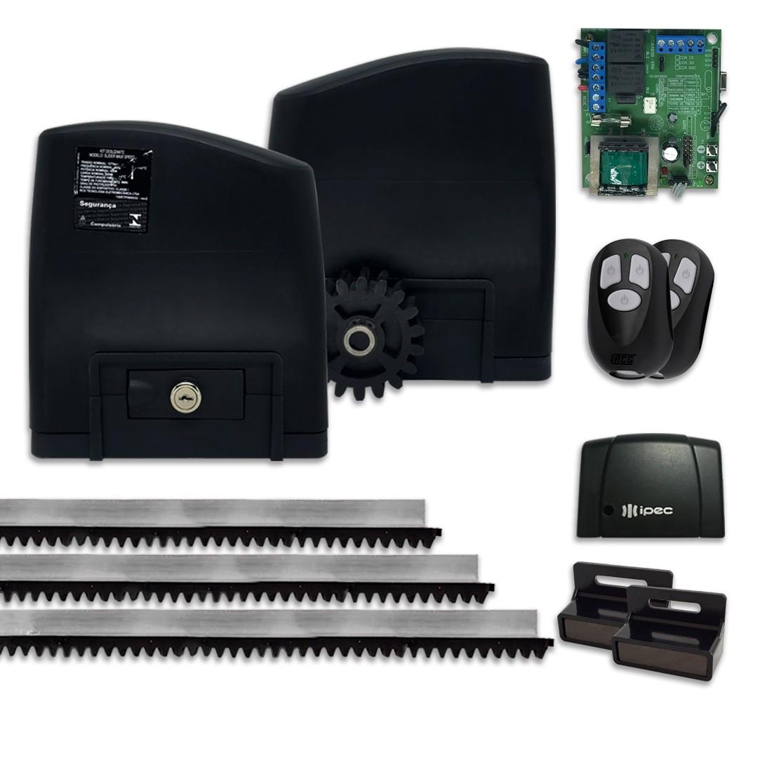 Kit Motor de Portão Deslizante RCG Slider PL Slim Tx Car