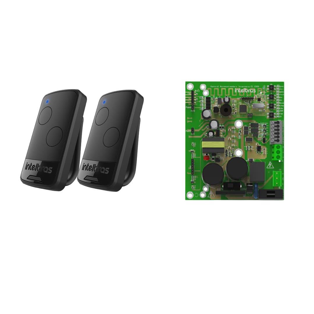 Kit Motor de Portão Eletrônico Basculante Intelbras BR 400 Fast 1/3 Hp