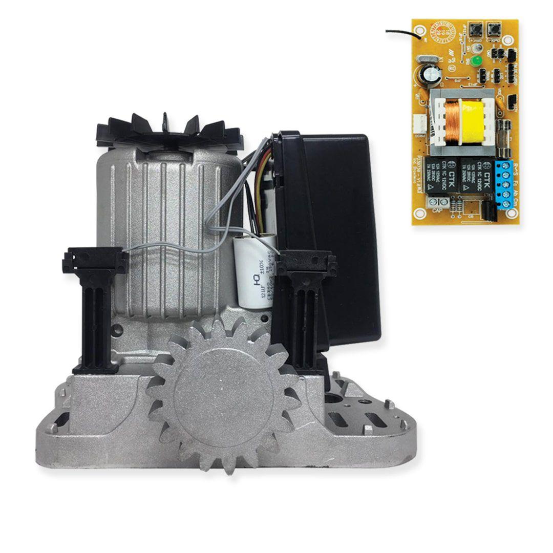 Kit Motor de Portão Eletrônico de Correr PPA DZ Rio R400 KL 1/4HP