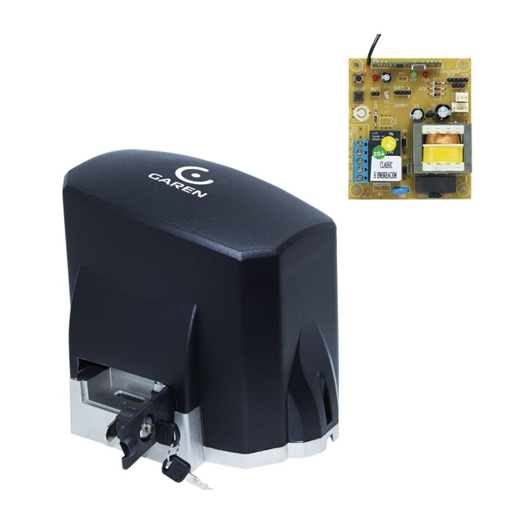 Kit Motor de Portão Eletrônico Deslizante KDZ Classic 1/4 HP Garen