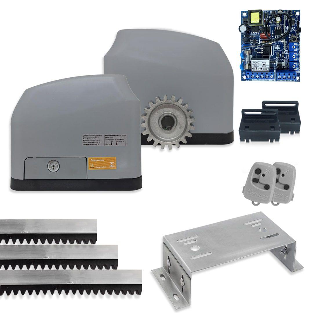 Portão Eletrônico Deslizante Peccinin Fast Gatter Kit + Base