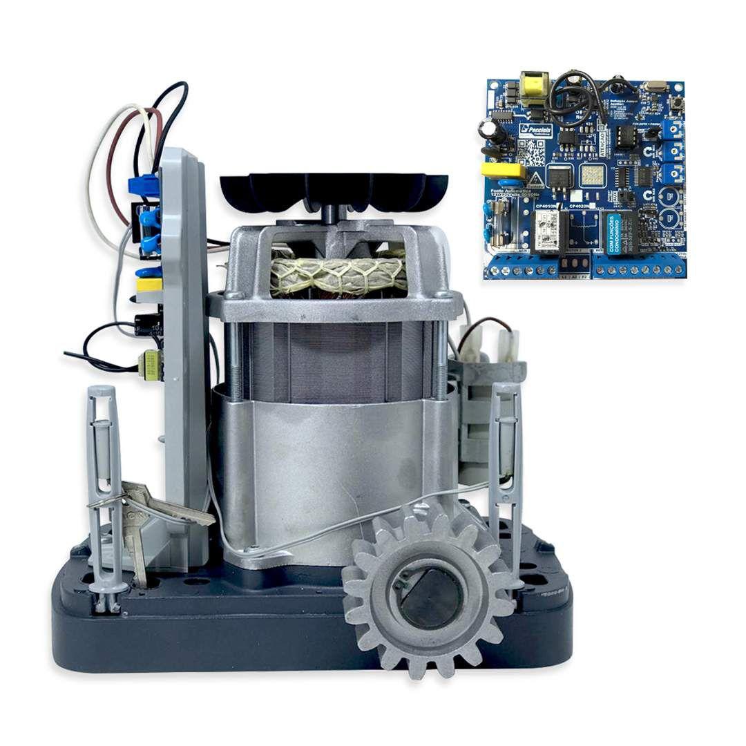 Portão Eletrônico Motor Peccinin Light 500R 1/2 Hp Kit Completo