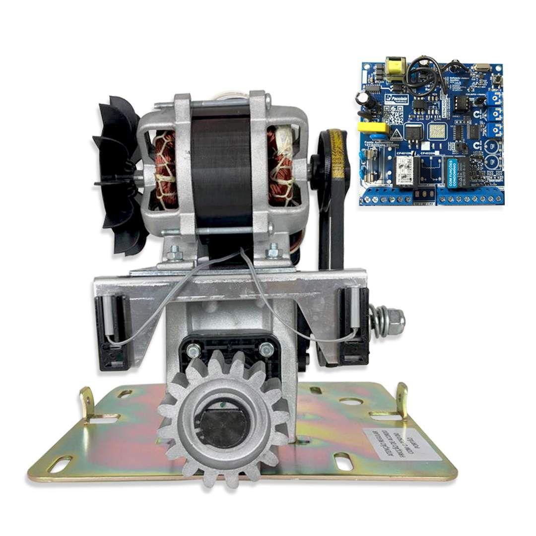 Kit Motor de Portão Eletrônico Deslizante Peccinin Super Flash 1/2 HP