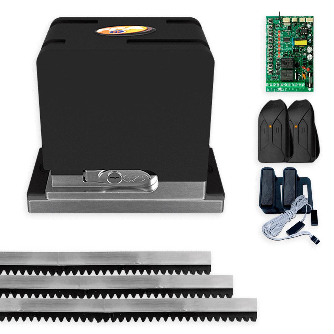 Kit Motor de Portão Eletrônico Deslizante PPA Dz Cube 550 Wi-Fi