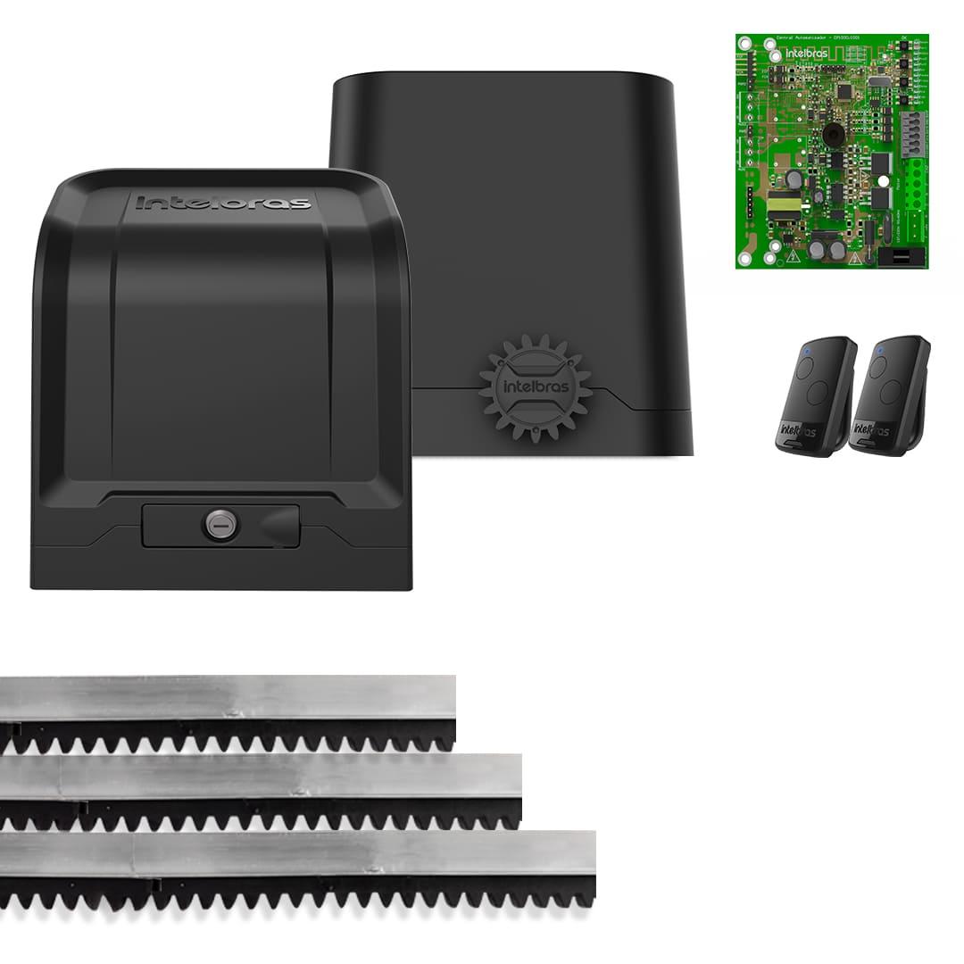 Kit Motor de Portão Eletrônico Intelbras DR 400 1/4 Hp Deslizante